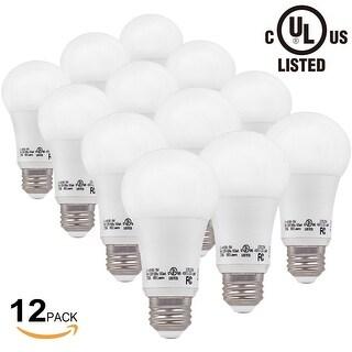 1 Pcs/6 Pcs/12 Pcs UL-listed 9W A19 LED Light Bulb, A19 LED Bulb, 800 lumens, 2700K/5000K