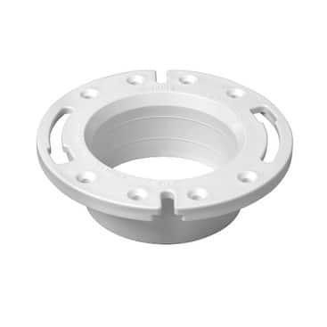 "Oatey 43587 PVC Spigot Fit Closet Flange w/Plastic Ring, 4"""