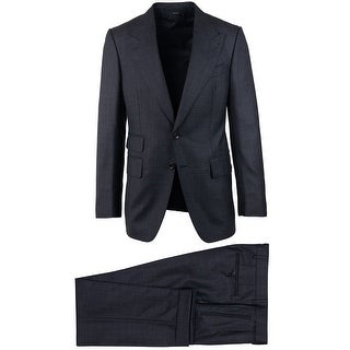 Tom Ford Black Wool Blend Shelton Two Button 2PC Suit - 38 r