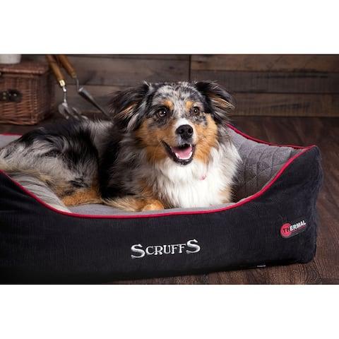 Scruffs Thermal Box Bed - Black & Grey