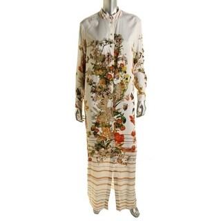 A La Russe Womens Shirtdress Silk Printed - 38