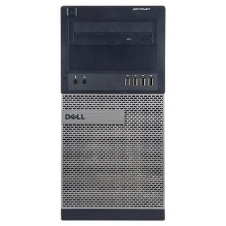 Dell OptiPlex 790 Computer Tower Intel Core I5 2400 3.1G 8GB DDR3 320G Windows 7 Pro 1 Year Warranty (Refurbished) - Black