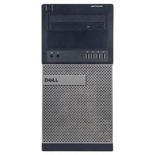 Dell OptiPlex 990 Computer Tower Intel Core I5 2400 3.1G 4GB DDR3 2TB Windows 7 Pro 1 Year Warranty (Refurbished) - Black
