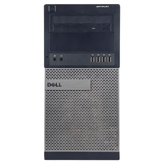 Dell OptiPlex 990 Computer Tower Intel Core I7 2600 3.4G 8GB DDR3 320G Windows 10 Pro 1 Year Warranty (Refurbished) - Black