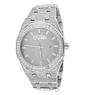 Stainless Steel Iced Out Hip Hop Watch Mens Lab Diamonds Bling Master