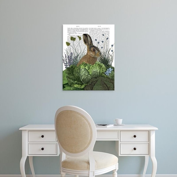 Easy Art Prints Fab Funky's 'Cabbage Patch Rabbit 3' Premium Canvas Art