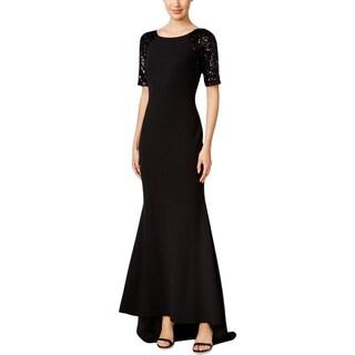 Calvin Klein Womens Formal Dress Sequined Short Sleeves - 2