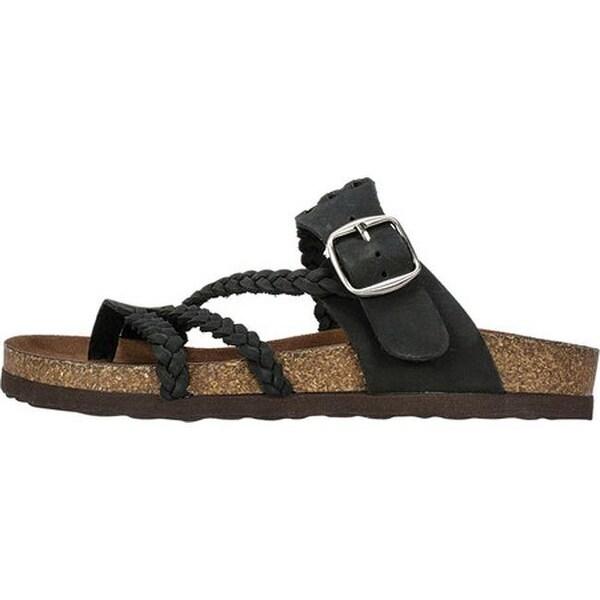 Hayleigh Toe Loop Sandal Black Nubuck