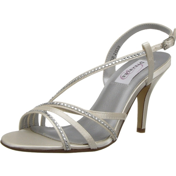 Dyeables NEW White Ivory Womens Shoes 9.5M Jo Strappy Dress Sandal