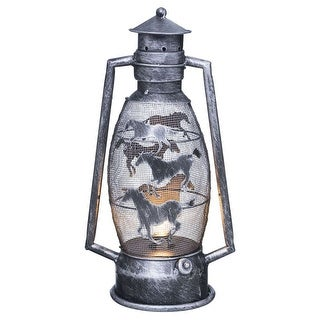 Tough-1 Western Decorative Lantern Brushed Metallic Cutout