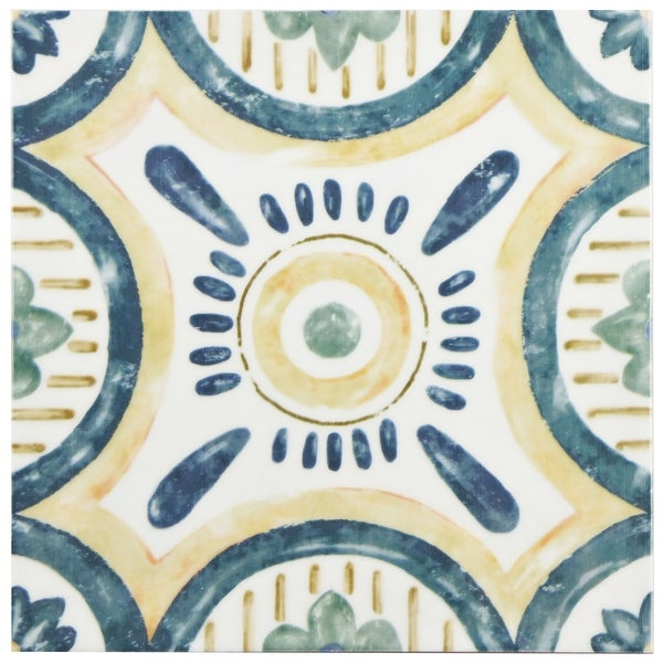 SomerTile 7.875x7.875-inch Borough Isola Ceramic Wall Tile (25 tiles/11.46 sqft.). Opens flyout.