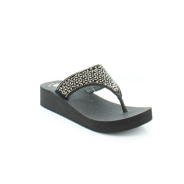 Yellow Box Glam Women's Sandals & Flip Flops Black - 9.5
