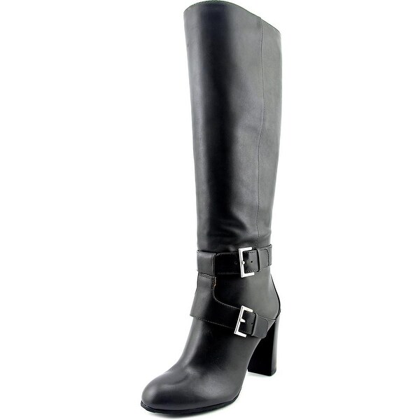 Nine West Skylight Wide Calf Women Round Toe Leather Gray Knee High Boot