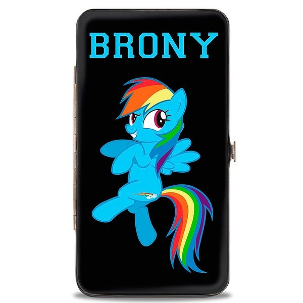 Brony Rainbow Dash + Cutie Mark Black Hinged Wallet - One Size Fits most
