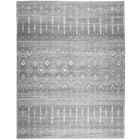 Realife Machine Washable - Moroccan Rug - Gray Ivory