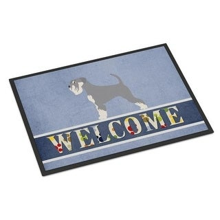 Carolines Treasures BB8350JMAT Schnauzer Welcome Indoor or Outdoor Mat - 24 x 36 in.