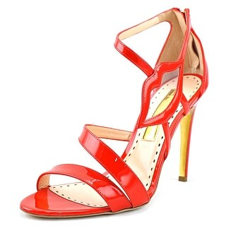 Rupert Sanderson Kiss Women  Open Toe Patent Leather Red Sandals