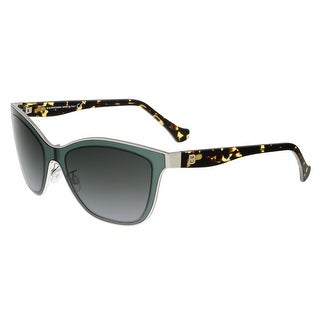 Balenciaga BA0084 95B Clear Teal and Tortoise Wayfarer Sunglasses