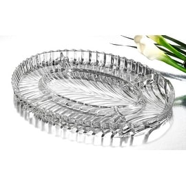 Studio Silversmiths Papyrus Large Oval Sectional Serving Dish