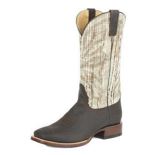 Stetson Western Boot Mens Oily Distressed Brown 12-020-8839-0370 BR