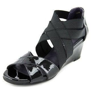 Vaneli Mireil Open Toe Synthetic Wedge Heel
