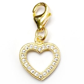 Julieta Jewelry Heart Outline CZ Clip-On Charm