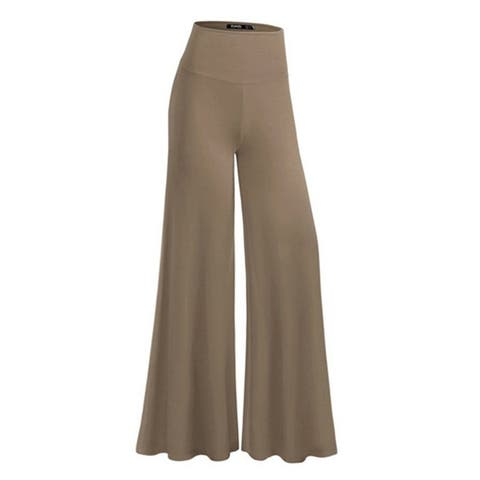 Casual High Waist Pants Leg Wide Trousers