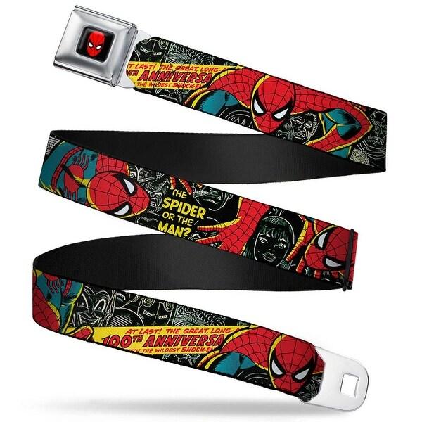 Marvel Comics Spider Man Full Color The Amazing Spider Man 100Th Seatbelt Belt