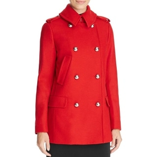 MICHAEL Michael Kors Womens Military Coat Wool Double-Breasted