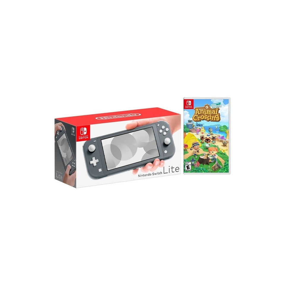 Shop Nintendo Switch Lite Gray Bundle With Animal Crossing New