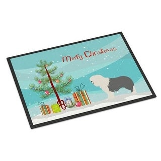 Carolines Treasures BB8466MAT Old English Sheepdog Christmas Indoor or Outdoor Mat - 18 x 27 in.