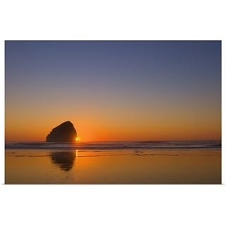 """""""Beach with stack rock in Oregon"""" Poster Print"""