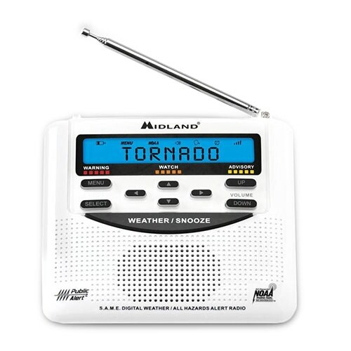Midland WR120 Portable Emergency Weather Radio w/ 25-County Memory System