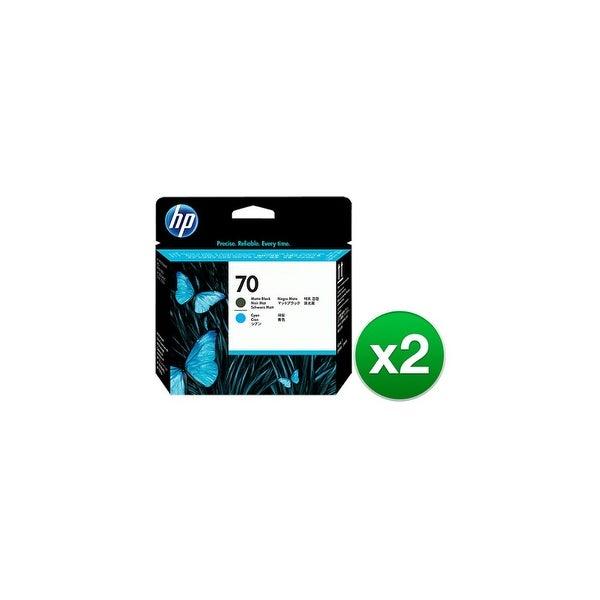 HP 70 Matte Black & Cyan DesignJet Printhead (C9404A) (2-Pack)