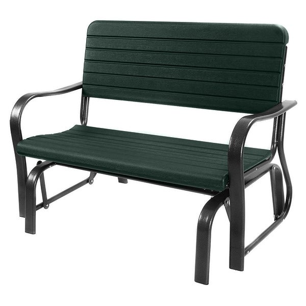 Costway Outdoor Patio Swing Porch Rocker Glider Bench Loveseat Garden Seat Steel
