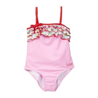 Azul Baby Girls Pink Sweet Jane Ruffle Strap One Piece Swimsuit