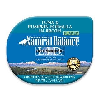 Natural Balance LID Tuna & Pumpkin Formula in Broth Cat Food 24ea/.75oz