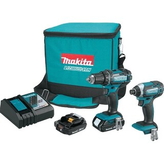 Makita 18V LXT® Lithium-Ion Compact Cordless 2-Pc. Combo Kit (2.0Ah)