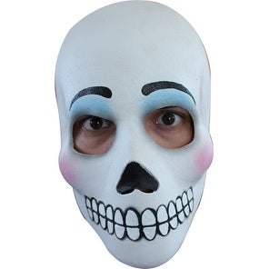 Womens Skull Day Of The Dead Catrina Adult Costume Mask - standard - one size