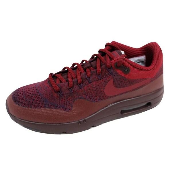 f3f49185fe23 Shop Nike Men s Air Max 1 Ultra Flyknit Grand Purple Team Red 856958 ...