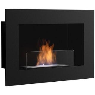 Gymax 27.5 Inch Wall Mounted Bio-Ethanol Fireplace Ventless Hanging Fireplace Burner
