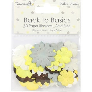 Dovecraft Back To Basics Paper Blossoms 30/Pkg-Baby Steps