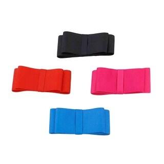 Prim N Proper Flat Ribbon Hair Bow Combo Pack, Set of 4
