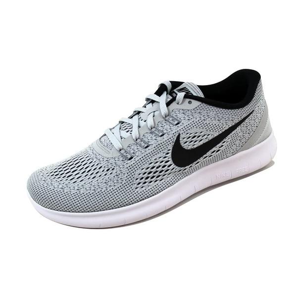 f47bfa890c91 Shop Nike Women s Free Run White Black-Pure Platinum nan 831509-101 ...