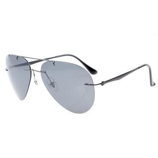 Eyekepper Titanium Aviator Style Rimless Polarized Sunglasses Grey Lens