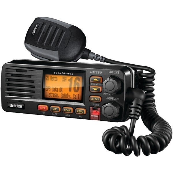 Uniden Um380Bk Fixed Mount Vhf/2-Way Marine Radio (Black)