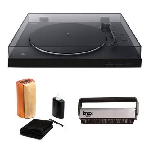 Sony PS-LX310BT Wireless Bluetooth Turntable w/ Vinyl Cleaning Bundle