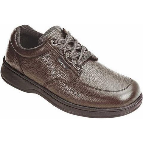 Orthofeet Men's Avery Island Brown Leather