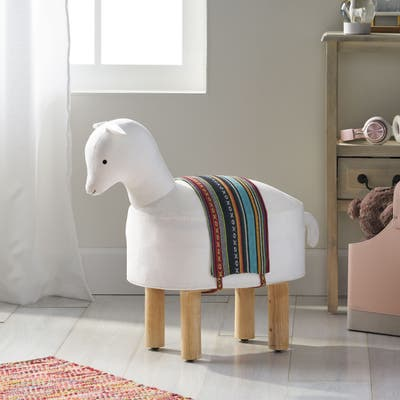 Patton Handcrafted Contemporary Kids Llama Ottoman by Christopher Knight Home