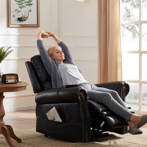 Harper & Bright Designs Faux Leather Power Lift Reclining Chair